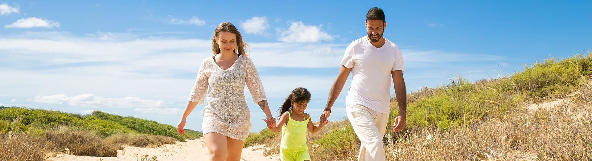 family day out at the beach
